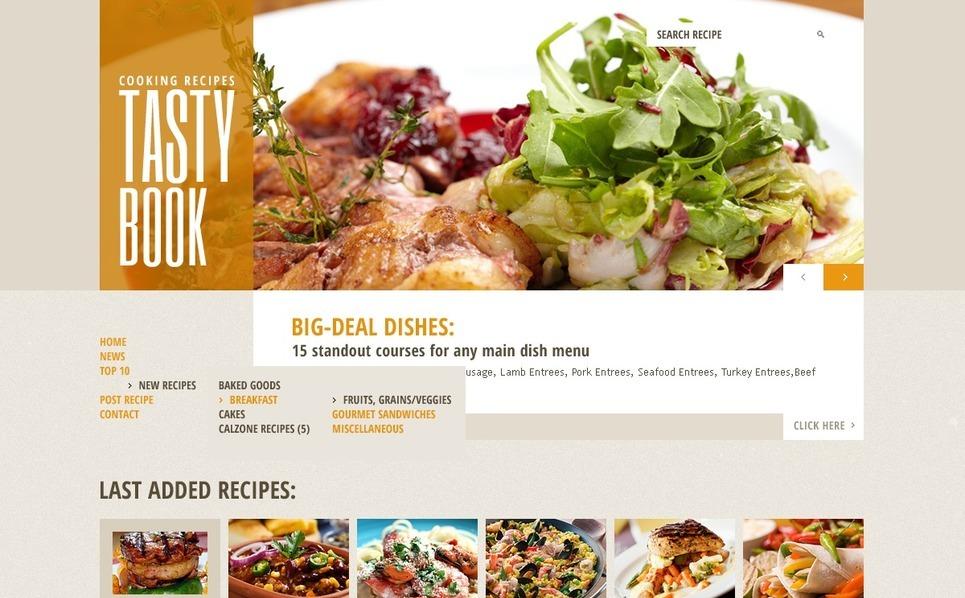 Modello Siti Web  #42620 per Un Sito di Cucina New Screenshots BIG