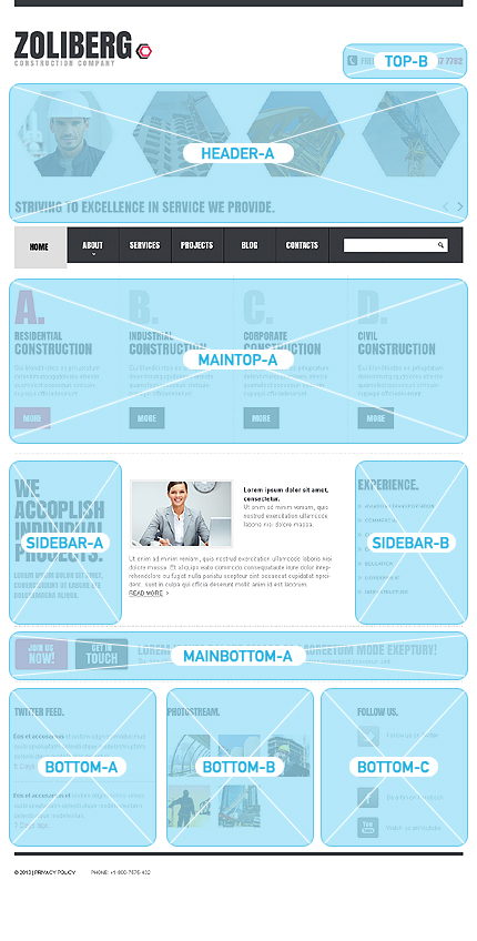 Joomla Theme/Template 42623 Main Page Screenshot