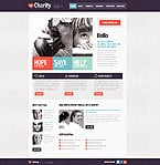 Charity Website  Template 42626