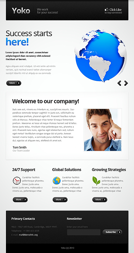 ADOBE Photoshop Template 42648 Home Page Screenshot