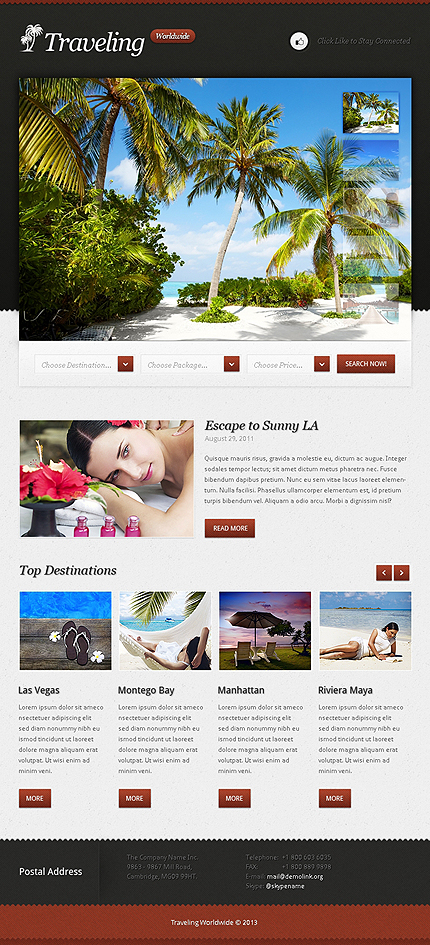 ADOBE Photoshop Template 42649 Home Page Screenshot