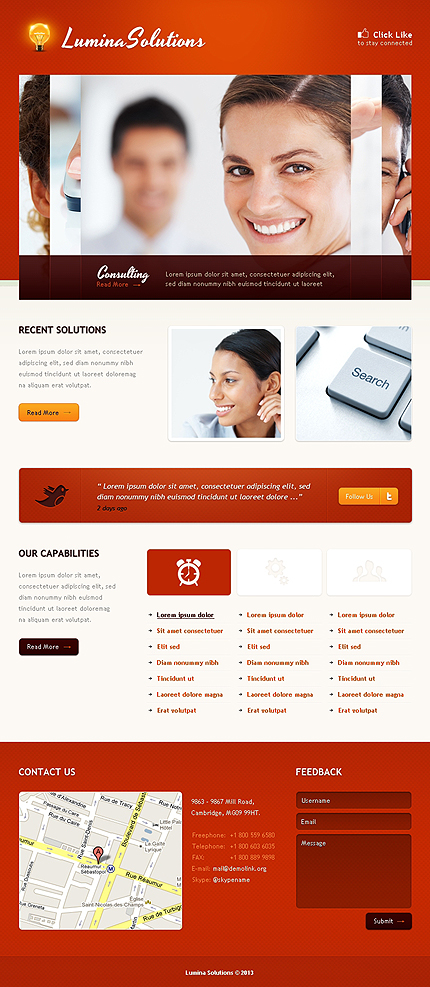 ADOBE Photoshop Template 42651 Home Page Screenshot
