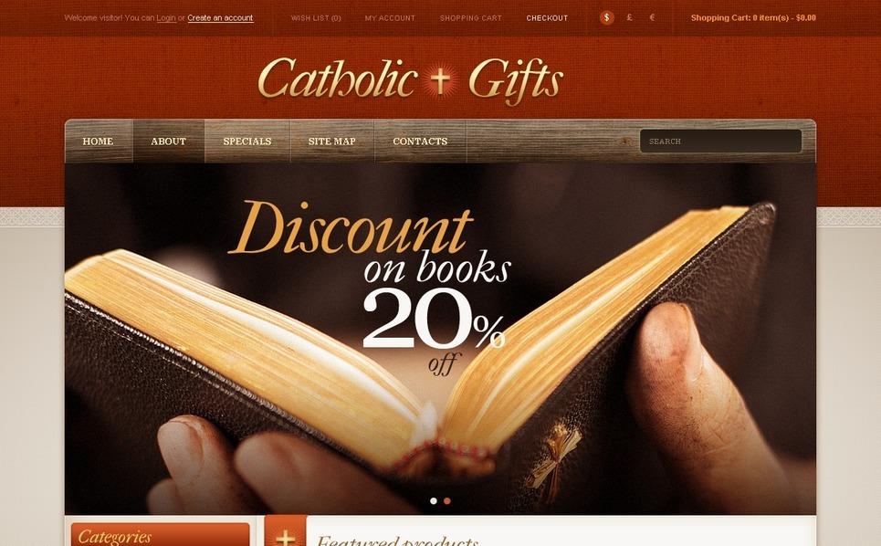 Katolikus egyház OpenCart sablon New Screenshots BIG