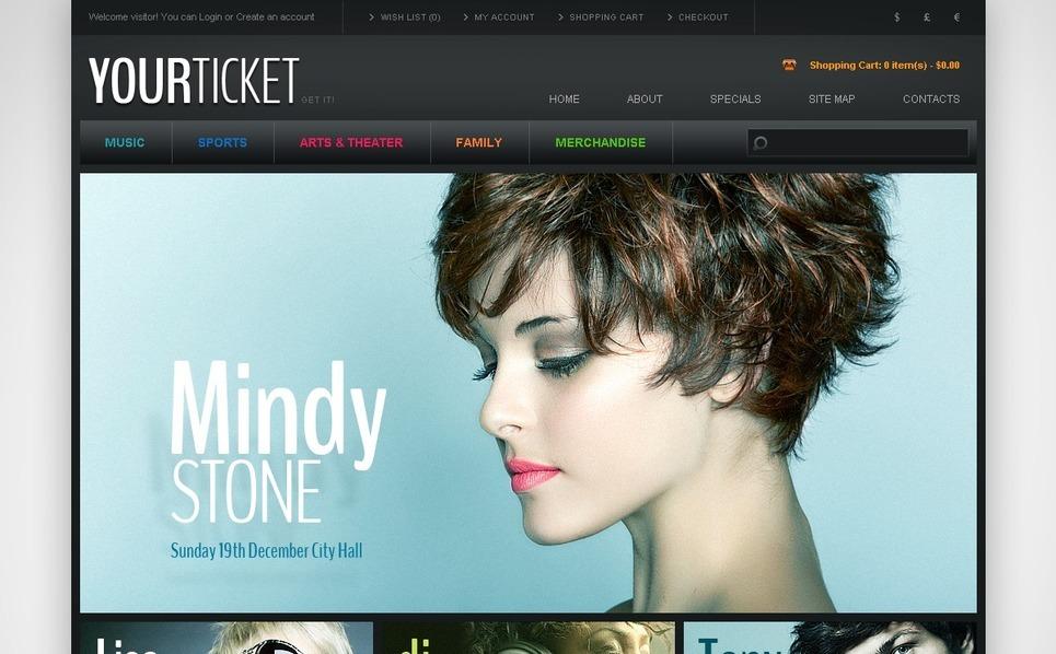 Szablon OpenCart #42657 na temat: strona z biletami New Screenshots BIG