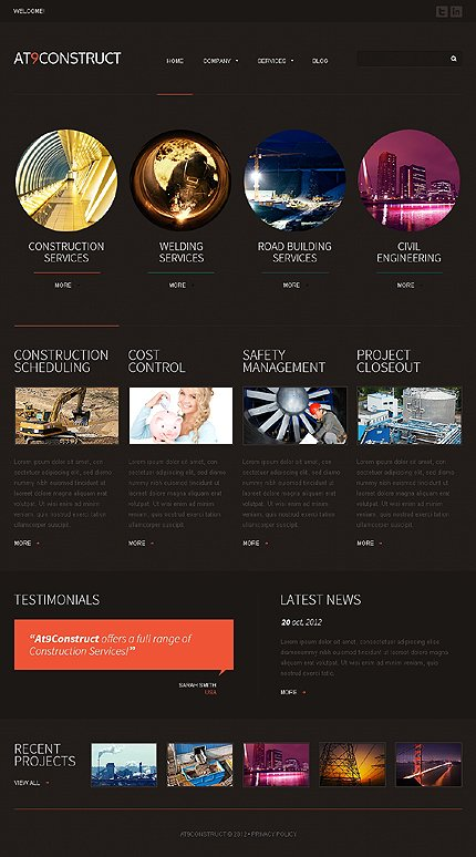 Joomla Theme/Template 42658 Main Page Screenshot