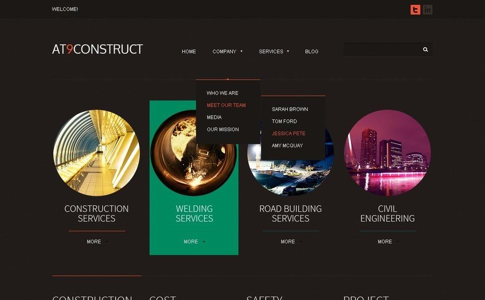 Joomla šablona Stavební společnosti New Screenshots BIG