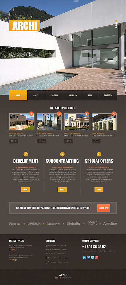 Joomla Theme/Template 42661 Main Page Screenshot