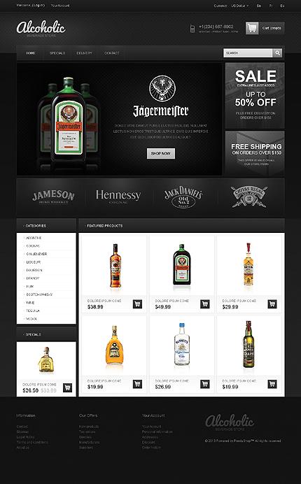 ADOBE Photoshop Template 42664 Home Page Screenshot