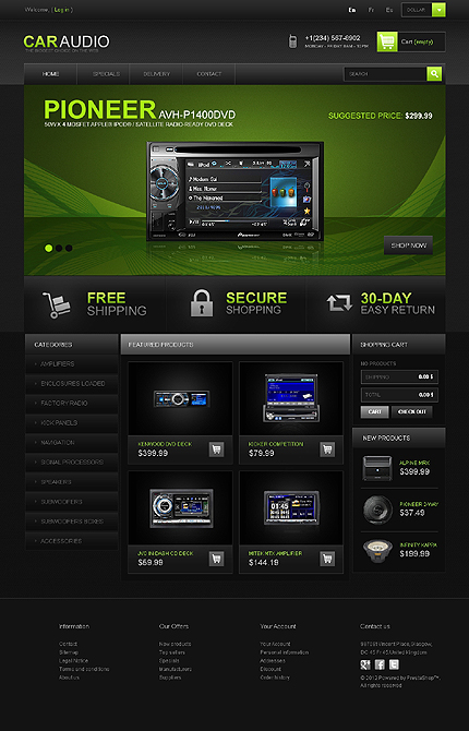 ADOBE Photoshop Template 42666 Home Page Screenshot
