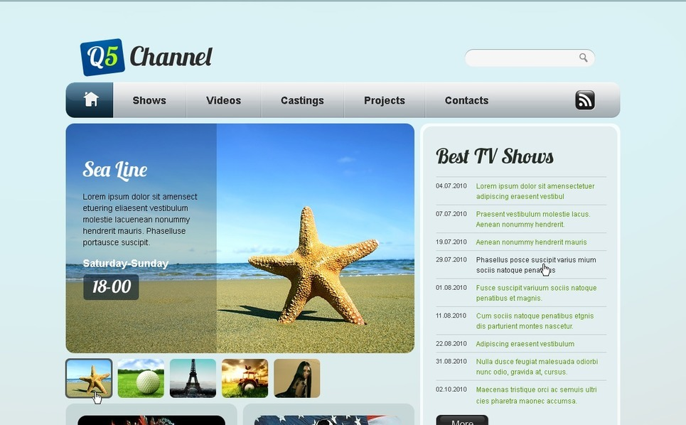 Template Flash CMS  #42670 per Un Sito di Canale TV New Screenshots BIG