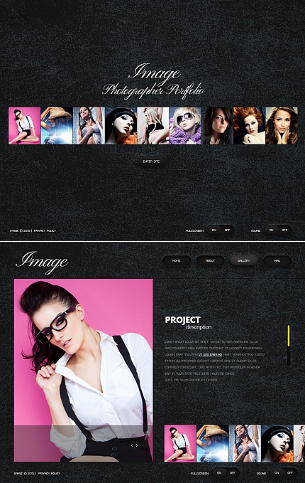 ADOBE Photoshop Template 42671 Home Page Screenshot
