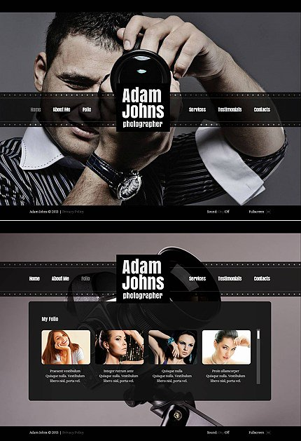 ADOBE Photoshop Template 42672 Home Page Screenshot