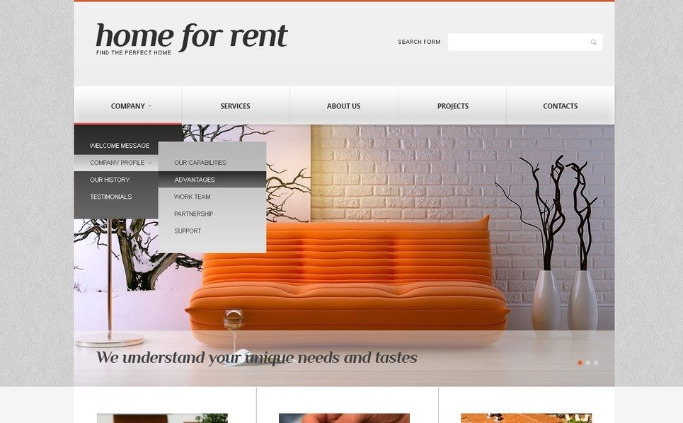 Plantilla Web Responsive para Sitio de Inmuebles New Screenshots BIG