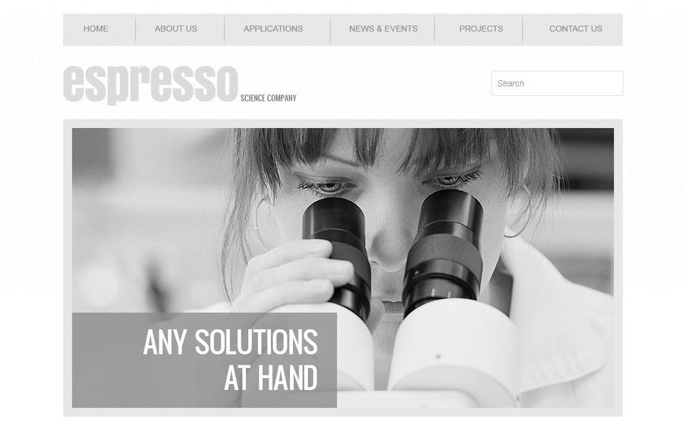 Responsive Website template over Sciencelaboratoria New Screenshots BIG