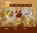 Agriculture Website  Template 42679