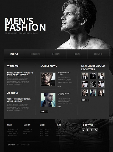 ADOBE Photoshop Template 42692 Home Page Screenshot