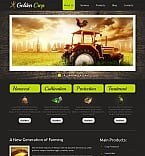 Agriculture Moto CMS HTML  Template 42697