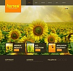 Agriculture Moto CMS HTML  Template 42698