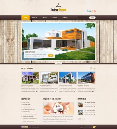 Адаптивный HTML шаблон №42615 на тему строительные компании
