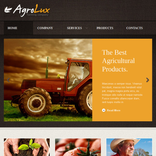 Agrolux - Facebook HTML CMS Template