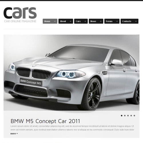 Cars - Facebook HTML CMS Template