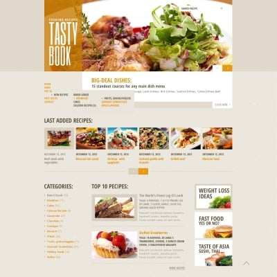 12 best cooking website templates forumfinder Image collections