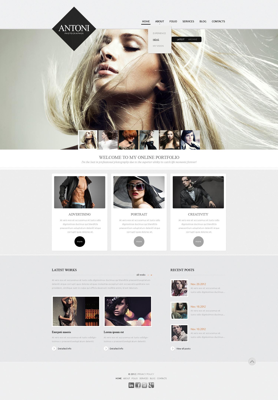 Fashionable Photographer Drupal sablon 42688