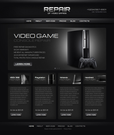 MotoCMS HTML шаблон №42695 на тему игровой