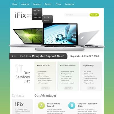 Computer Repair Šablona Webových Stránek