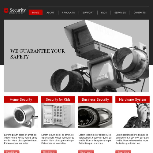 Security - Facebook HTML CMS Template