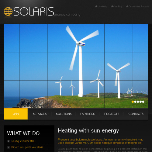 Solaris - Facebook HTML CMS Template