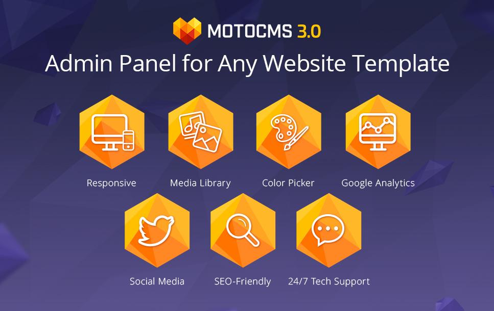 Widget MotoCMS para Sites de Serviços prestados às empresas №42667