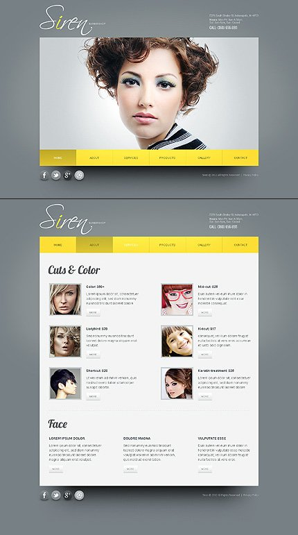 ADOBE Photoshop Template 42703 Home Page Screenshot