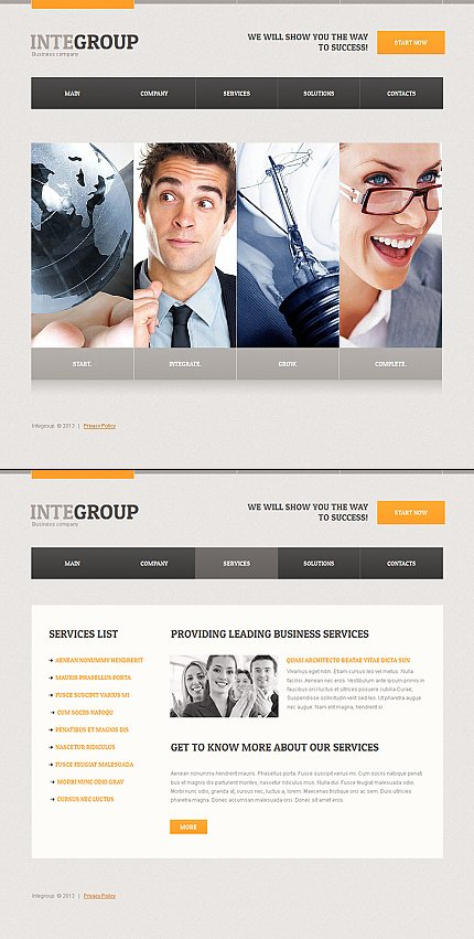 ADOBE Photoshop Template 42704 Home Page Screenshot