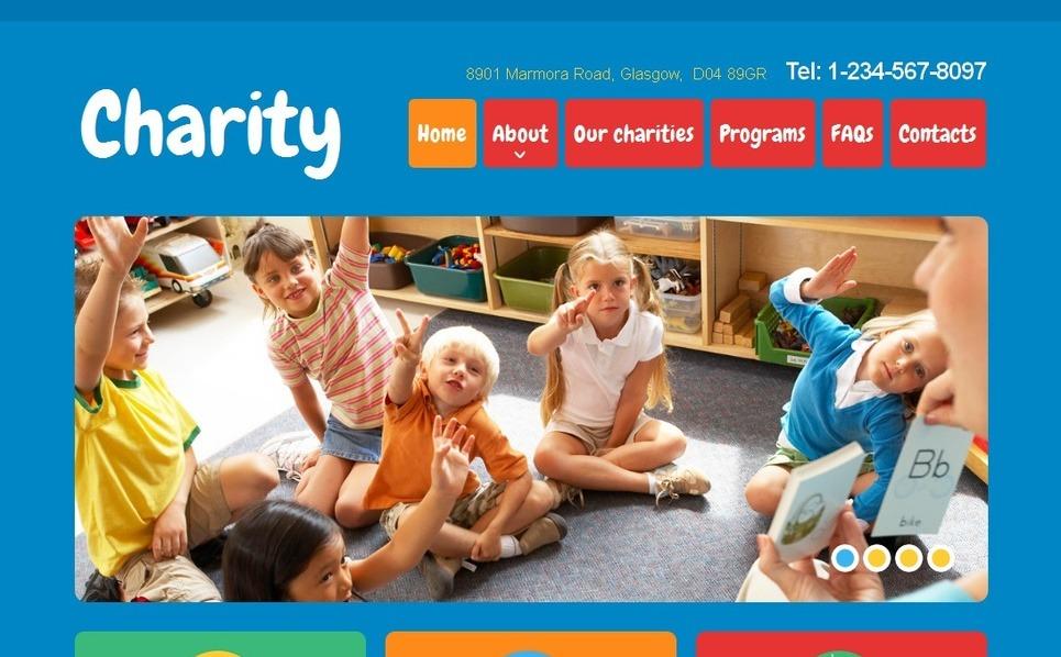 Moto CMS HTML Vorlage für Wohltätigkeit  New Screenshots BIG