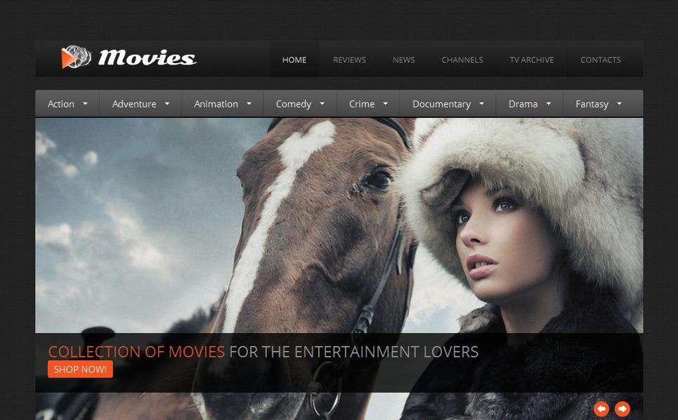 Luxusní Moto CMS HTML šablona na téma Kino New Screenshots BIG