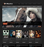 Entertainment Moto CMS HTML  Template 42707