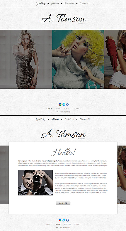 ADOBE Photoshop Template 42708 Home Page Screenshot