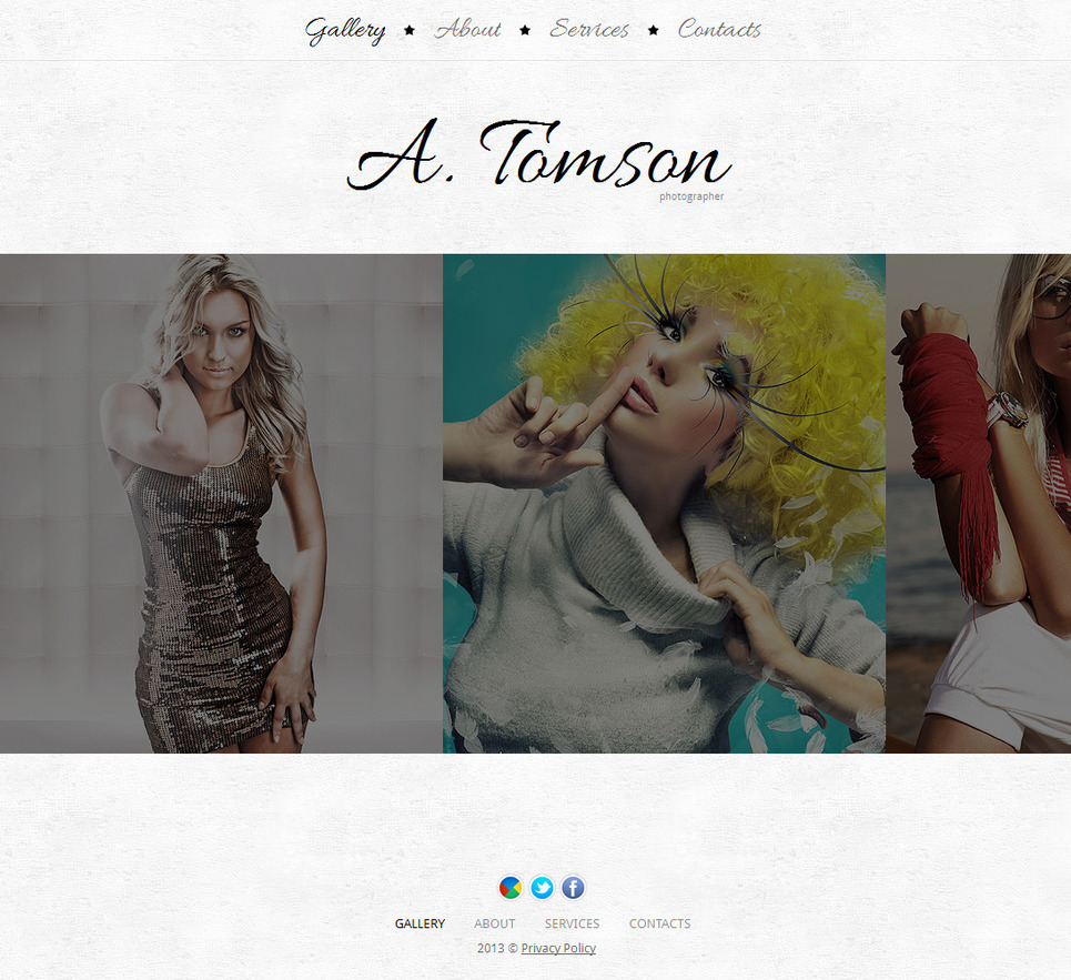 Photography Website Template with Large Preview Images - image