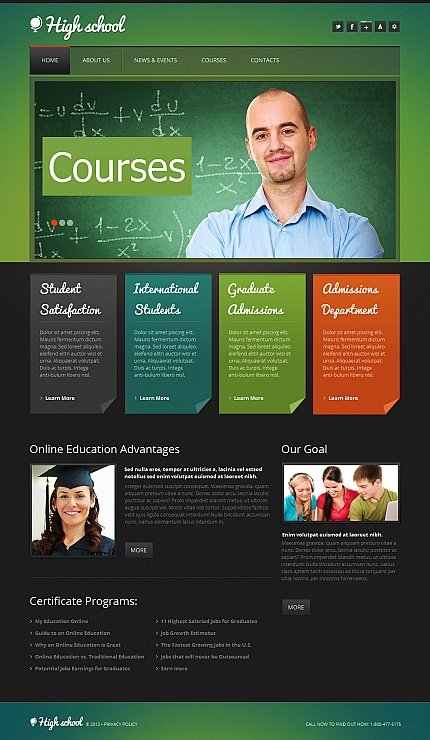 ADOBE Photoshop Template 42710 Home Page Screenshot