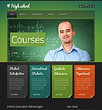 Education Moto CMS HTML  Template 42710