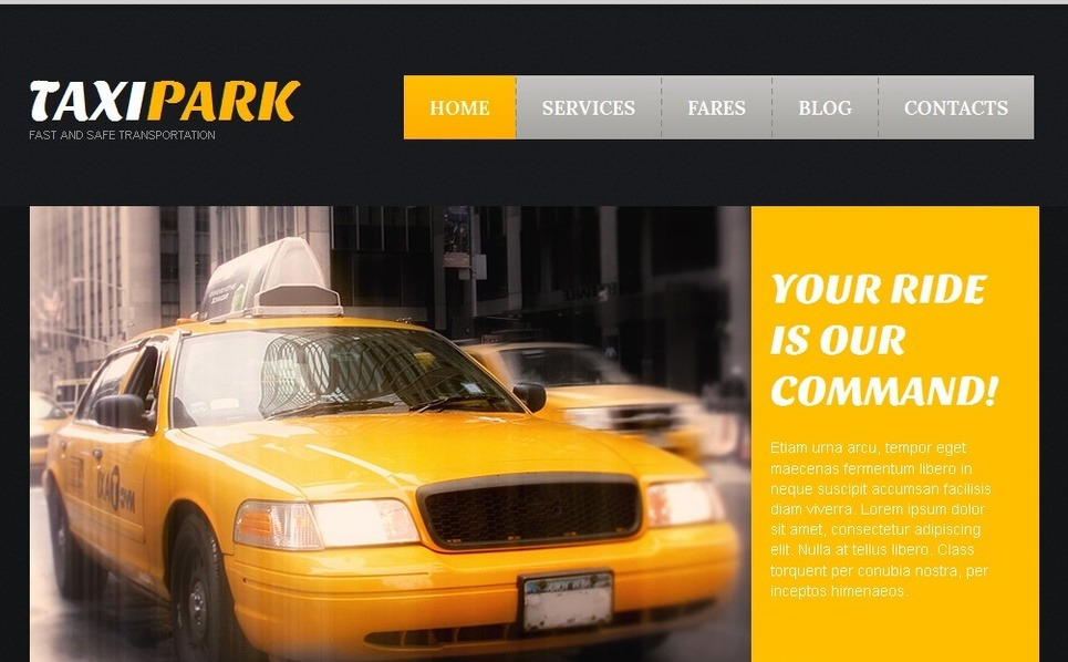 Plantilla Moto CMS HTML #42717 para Sitio de Taxi New Screenshots BIG