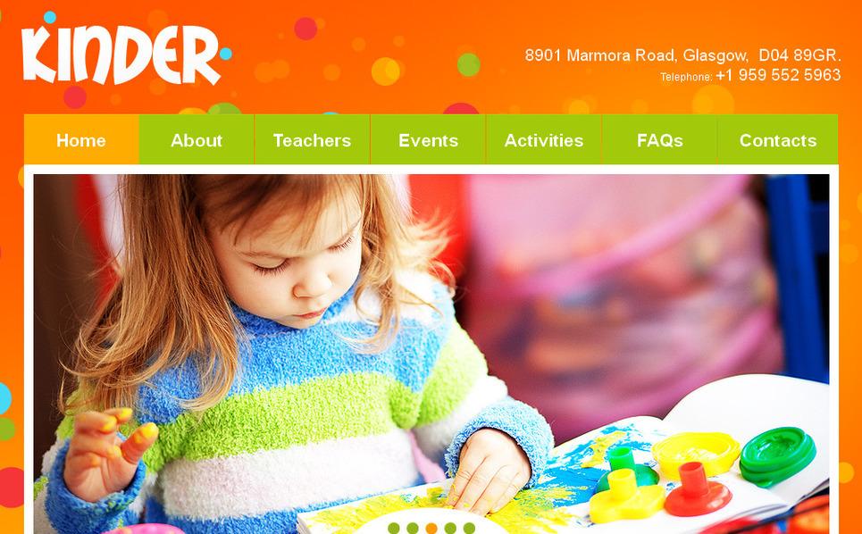 Prémium Gyermekcentrumok  Moto CMS HTML sablon New Screenshots BIG