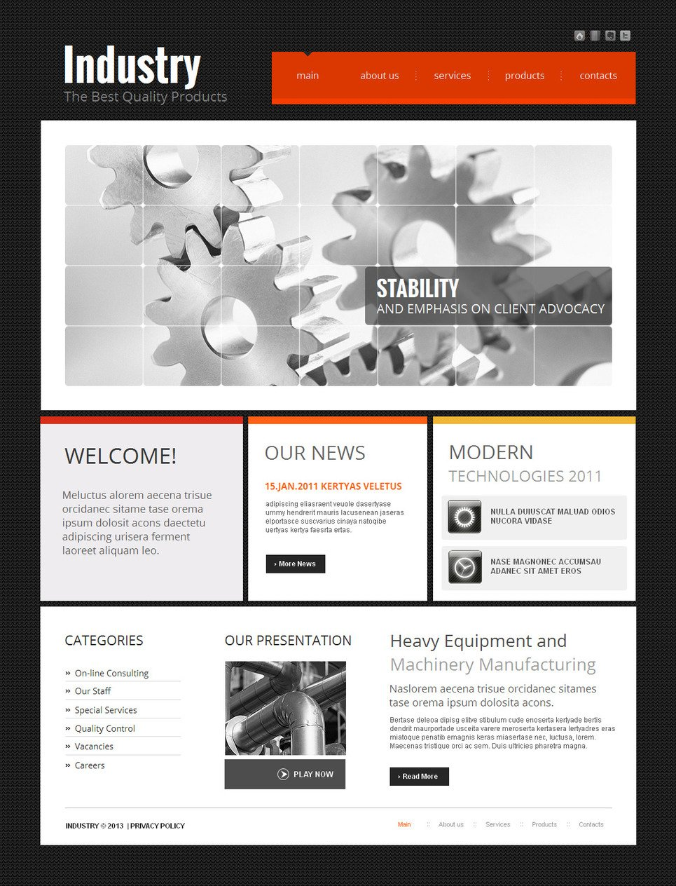 Industrial and Commercial Website Template with the CMS - image