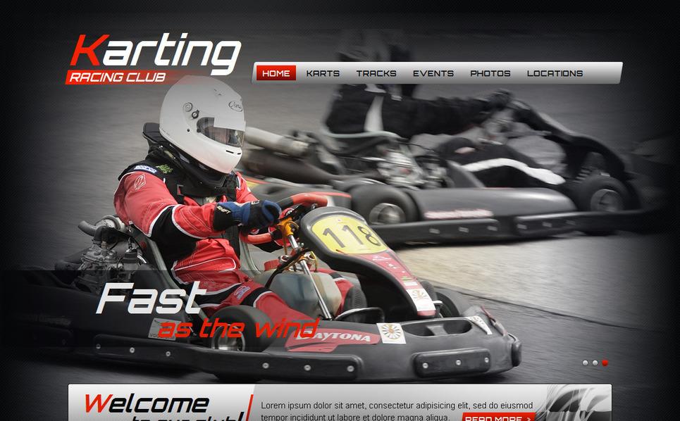Szablon Moto CMS HTML #42720 na temat: karting New Screenshots BIG