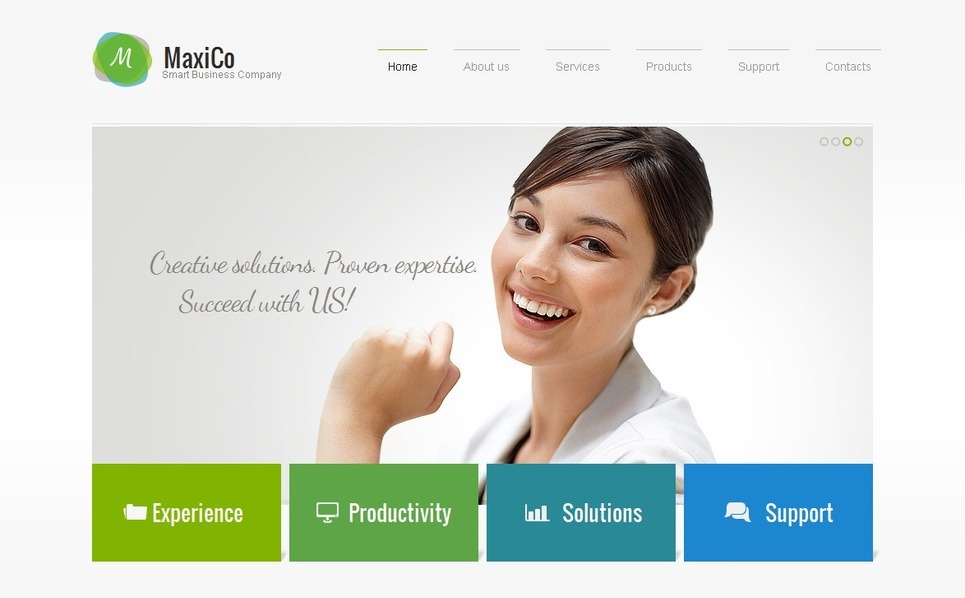 Modèle Moto CMS HTML  pour sites de consultation New Screenshots BIG