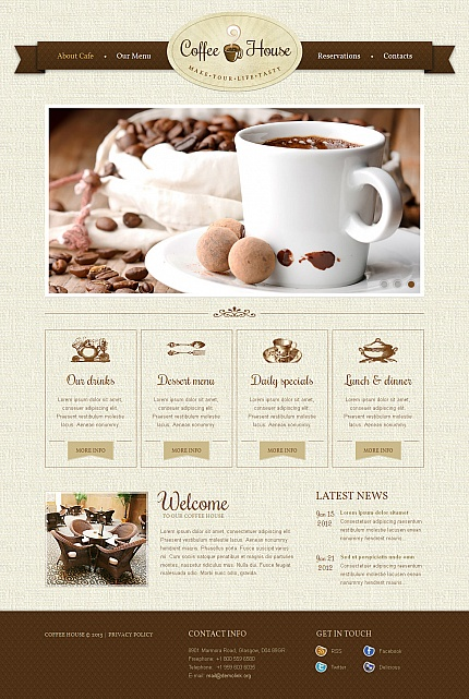 ADOBE Photoshop Template 42727 Home Page Screenshot