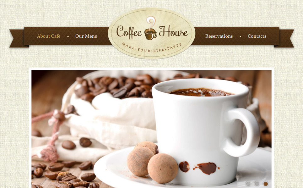Moto CMS HTML Vorlage für Kaffeeshop  New Screenshots BIG