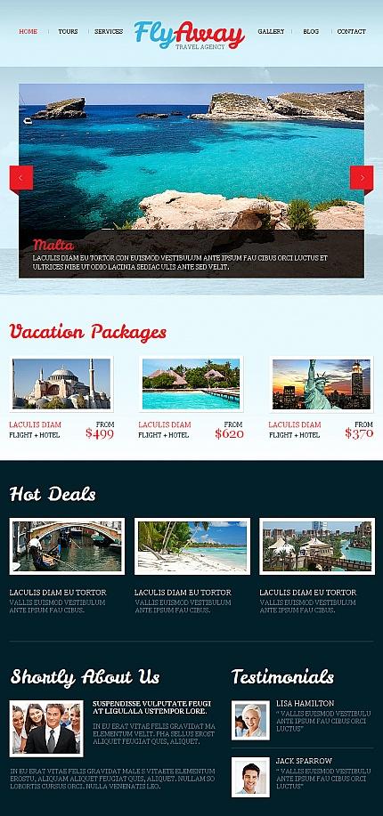 ADOBE Photoshop Template 42730 Home Page Screenshot