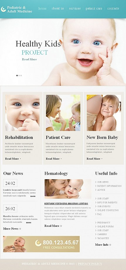 ADOBE Photoshop Template 42731 Home Page Screenshot
